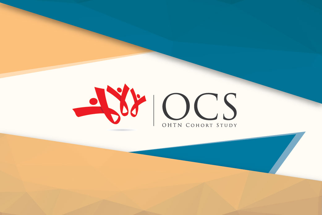 Colourful polygons surround the OHTN Cohort Study Logo