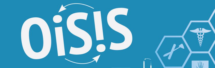 The Ontario Supervised Injection Services Study logo sits beside a cloud of integrated healthcare services