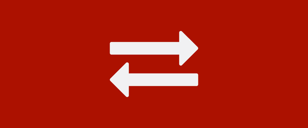 An icon of two arrows directing flow in opposite directions.