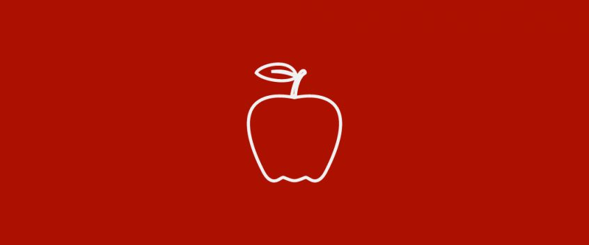 An icon of an apple.