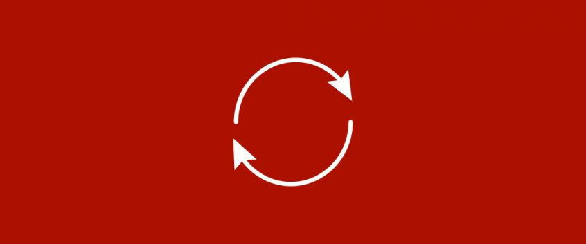 An icon of arrows symbolizing repetition or a cycle.