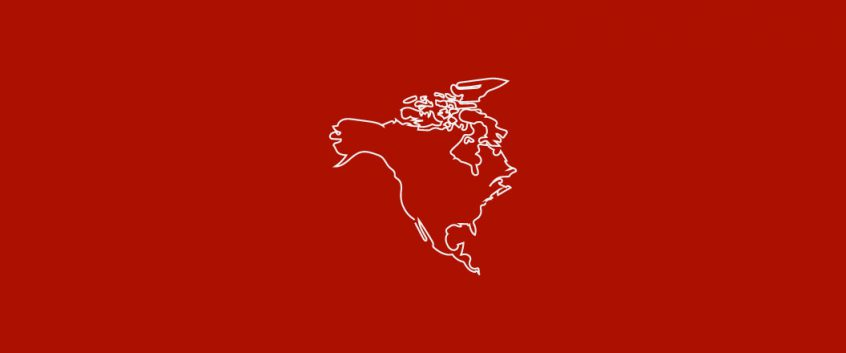 An icon of the outline of North America.