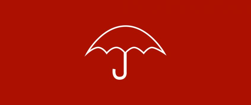 An icon of an open umbrella.