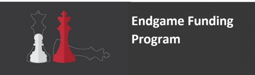 Endgame funding Program banner with chess pieces