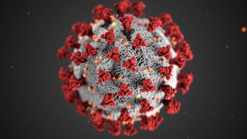 3D image of the COVID-19 virus